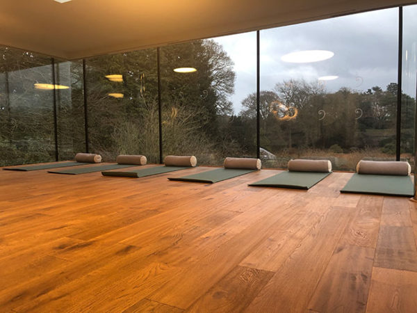 Yoga room in Broughton Hall