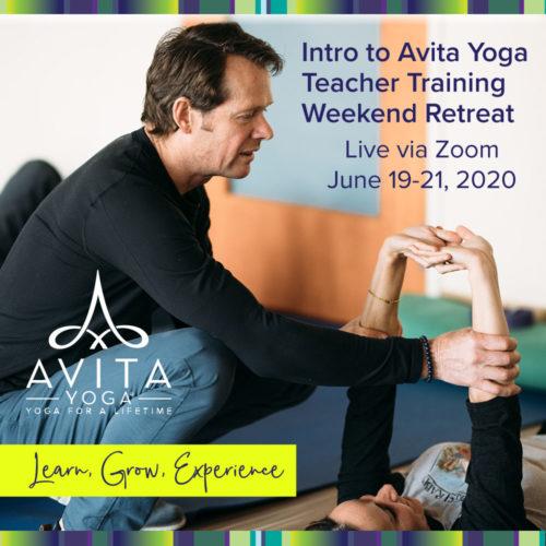 INTRO to Avita Yoga Teacher Training Weekend Retreat - workshop, learn from Avita Yoga founder Jeff Bailey