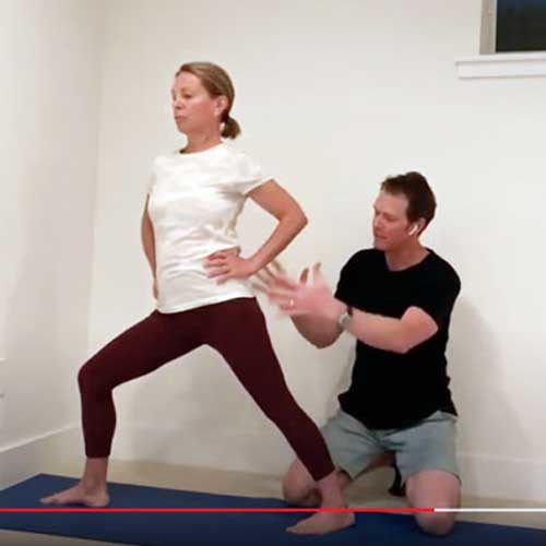 Position Hips Warrior I and II explanation with Jeff Bailey, Founder Avita Yoga