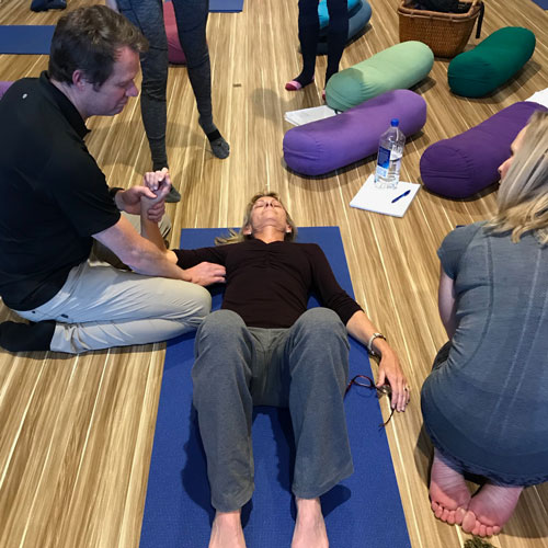 Avita Yoga TEacher Training with founder Jeff Bailey, increased shoulder mobility